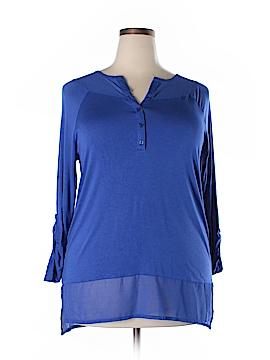 Design History 3/4 Sleeve Jersey Size 1X (Plus)