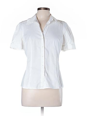 Ann Taylor LOFT Short Sleeve Button-Down Shirt Size 10 (Petite)