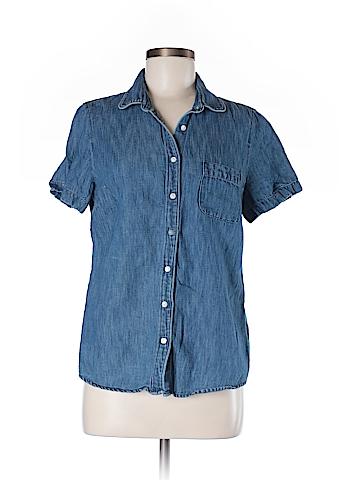 J. Crew Short Sleeve Button-Down Shirt Size 8