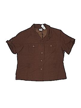 Emma James Short Sleeve Button-Down Shirt Size 14