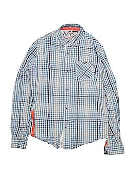 Guess Long Sleeve Button-Down Shirt Size 16 - 18