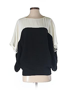 Lafayette 148 New York Short Sleeve Silk Top Size P