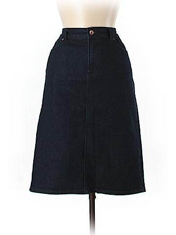 Lands' End Denim Skirt Size 8 (Tall)