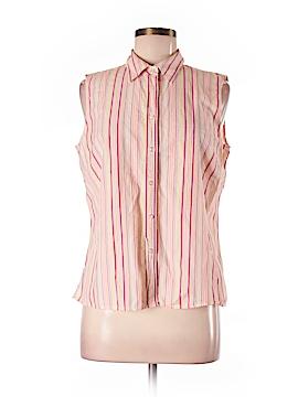 Lands' End Sleeveless Button-Down Shirt Size M