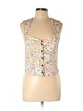 New Romantics Short Sleeve Button-Down Shirt Size L