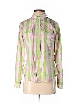 Aura Long Sleeve Button-Down Shirt Size S