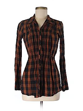 Delia Long Sleeve Button-Down Shirt Size M