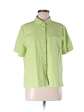 Appleseeds Short Sleeve Button-Down Shirt Size M