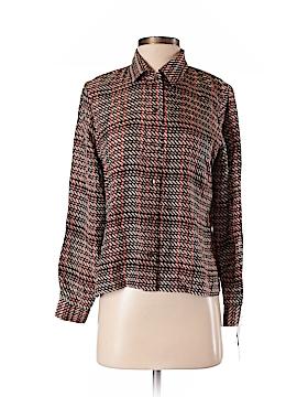DressBarn Long Sleeve Silk Top Size S (Petite)