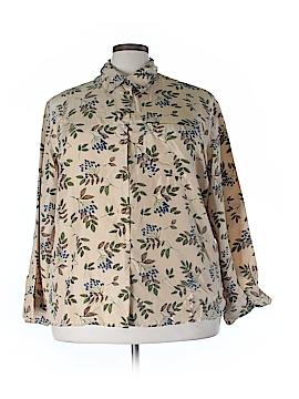 Elizabeth Long Sleeve Silk Top Size 20 (Plus)
