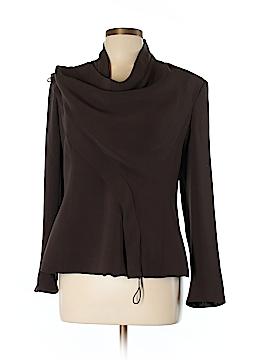 Giorgio Armani Long Sleeve Silk Top Size 48 (IT)