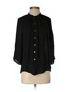 Creme Fraiche 3/4 Sleeve Silk Top Size S