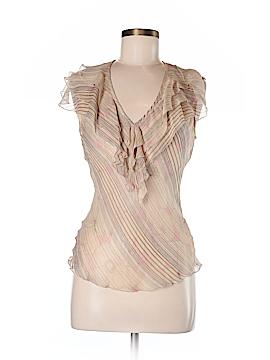 Parameter Short Sleeve Silk Top Size M