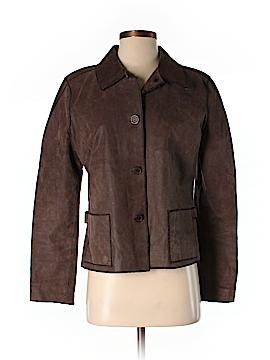 Jackie Blue Leather Jacket Size S