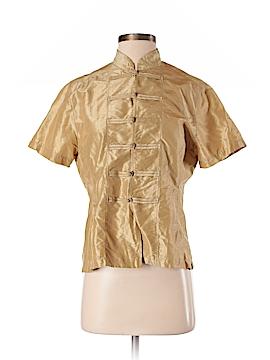 Dosa Short Sleeve Silk Top Size 2