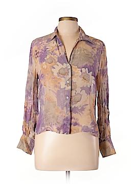 Cerruti 1881 Long Sleeve Silk Top Size 12