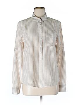 Joan Vass New York Long Sleeve Button-Down Shirt Size M
