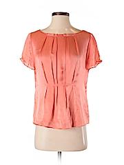 J. Crew Women Short Sleeve Silk Top Size 2