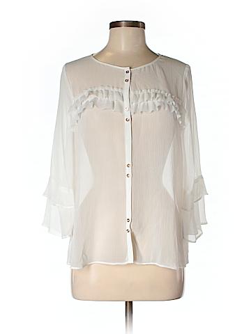 Lauren Conrad 3/4 Sleeve Button-Down Shirt Size M
