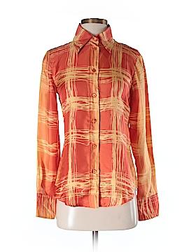 Agnona Long Sleeve Silk Top Size 42 (EU)