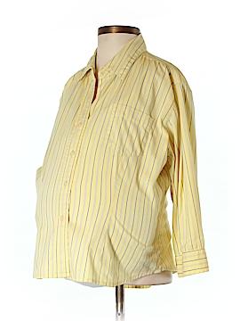 Liz Claiborne 3/4 Sleeve Button-Down Shirt Size M (Maternity)