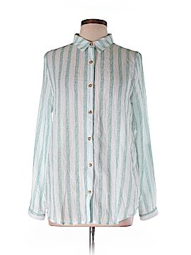 Hem & Thread Long Sleeve Button-Down Shirt Size L