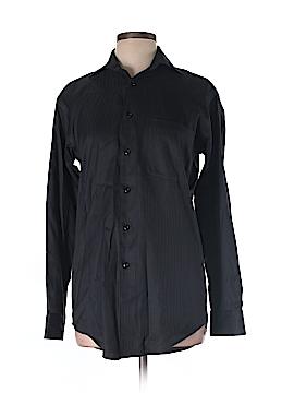 Pronto Long Sleeve Button-Down Shirt Size 14 (Plus)