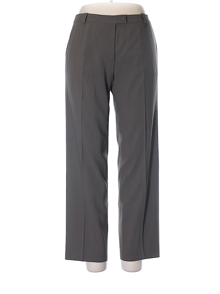 Giorgio Armani Women Wool Pants Size 46 (IT)