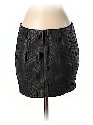 Faith Connexion Leather Skirt Size 36 (FR)