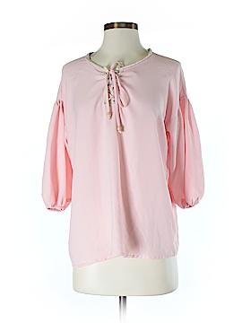 Peach Love Cream California 3/4 Sleeve Blouse Size S