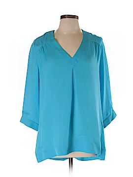 Annie Griffin 3/4 Sleeve Silk Top Size L