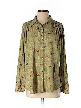 BA&SH Long Sleeve Button-Down Shirt Size 2