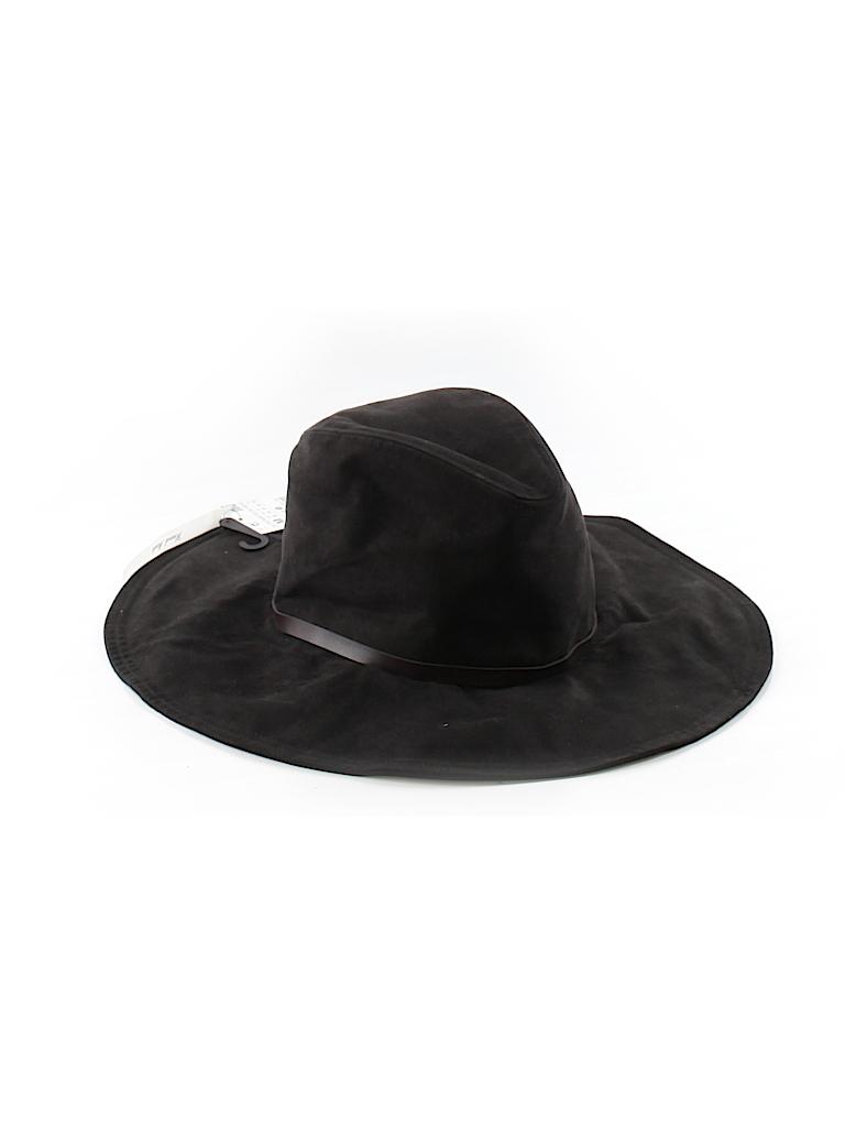 Zara Solid Black Sun Hat One Size - 49% off  c46e2a2e7bd