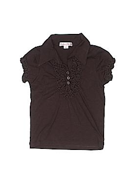 Jeanine Johnsen Short Sleeve Button-Down Shirt Size 3T