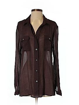 Quiksilver Long Sleeve Button-Down Shirt Size M