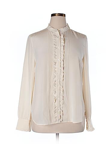 J. Crew Long Sleeve Silk Top Size 16