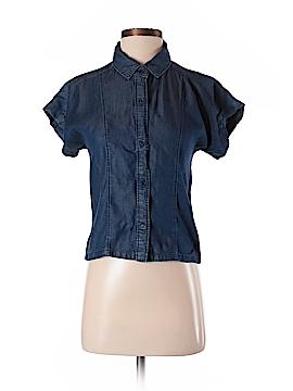 ABS Allen Schwartz Short Sleeve Button-Down Shirt Size S