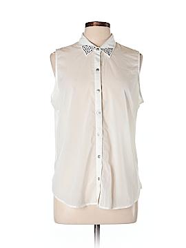 Style&Co Sleeveless Button-Down Shirt Size L (Petite)