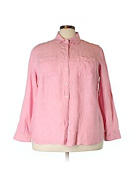 Talbots Long Sleeve Button-Down Shirt Size 3X (Plus)