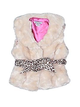 Hartstrings Faux Fur Vest Size 3T