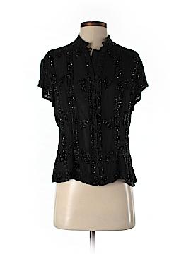 Aftershock Short Sleeve Silk Top Size L