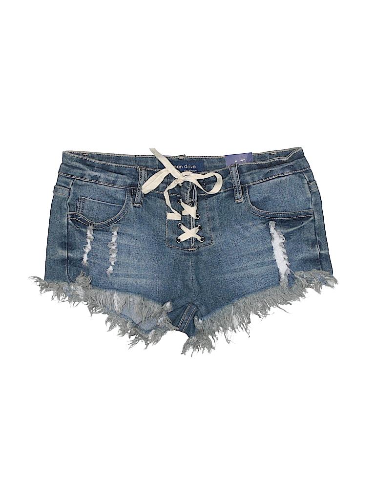 23d5bc909c44 Ocean Drive Clothing Co. Solid Dark Blue Denim Shorts Size 1 - 94 ...