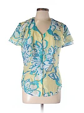 Linda Lundstrom Short Sleeve Blouse Size L