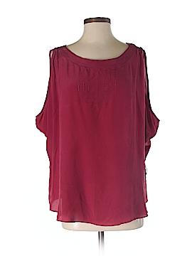 Line & Dot Sleeveless Silk Top Size S