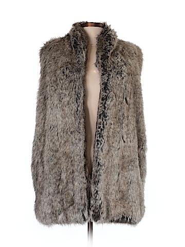French Connection Faux Fur Vest Size 8