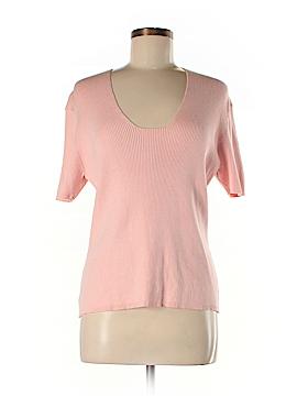 City Silk Short Sleeve Silk Top Size L
