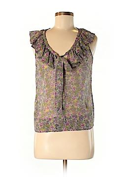 Fei Short Sleeve Silk Top Size 8
