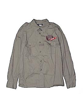 Jean Bourget Long Sleeve Button-Down Shirt Size 14