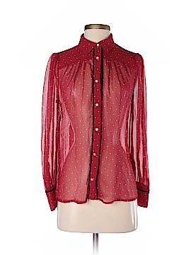 Frame Shirt London Los Angeles Long Sleeve Silk Top Size S