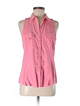 Cloth & Stone Sleeveless Button-Down Shirt Size M